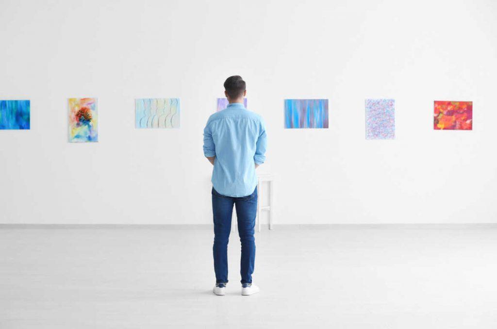 Una galería de arte con éxito